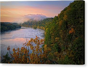 Lovers Leap Sunrise Canvas Print by Bill Wakeley