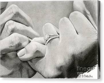 Love's Promise Canvas Print by Sarah Batalka