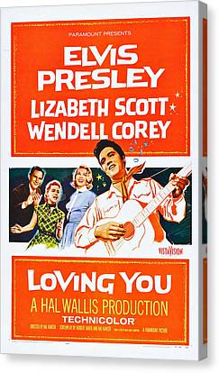 Loving You, Us Poster Art, Wendell Canvas Print by Everett
