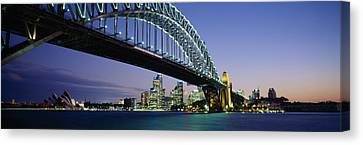 Low Angle View Of A Bridge, Sydney Canvas Print by Panoramic Images