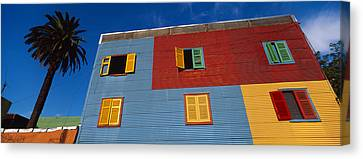 Low Angle View Of A Building, La Boca Canvas Print by Panoramic Images