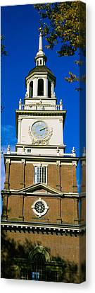 Low Angle View Of A Clock Tower Canvas Print by Panoramic Images