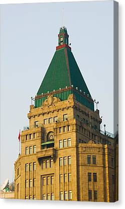Low Angle View Of A Hotel, Peace Hotel Canvas Print by Panoramic Images