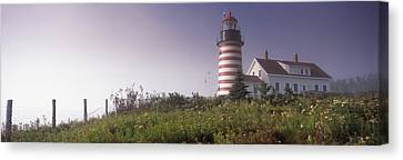 Low Angle View Of A Lighthouse, West Canvas Print by Panoramic Images