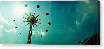 Low Angle View Of A Park Ride, Brooklyn Canvas Print by Panoramic Images