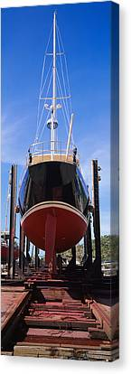 Low Angle View Of A Sailing Ship Canvas Print by Panoramic Images