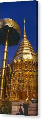 Low Angle View Of A Temple, Wat Canvas Print by Panoramic Images