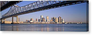 Low Angle View Of Bridges Canvas Print by Panoramic Images