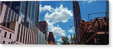 Low Angle View Of Buildings In Austin Canvas Print by Panoramic Images