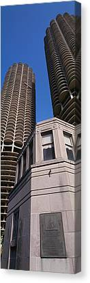 Low Angle View Of Marina Towers Canvas Print by Panoramic Images