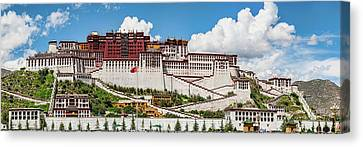 Low Angle View Of The Potala Palace Canvas Print by Panoramic Images