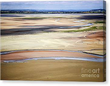 Low Tide In Brittany Canvas Print by Elena Elisseeva