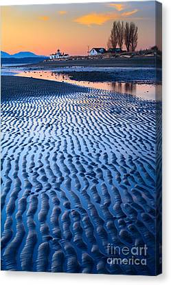 Low Tide In Seattle Canvas Print by Inge Johnsson