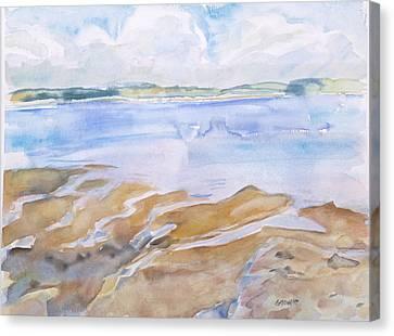 Low Tide - Penobscot Bay Canvas Print by Grace Keown