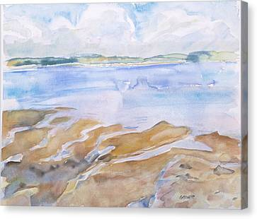 Low Tide - Penobscot Bay Canvas Print by Grace Keown