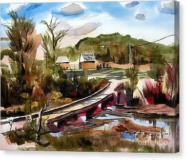 Low Water Bridge II Canvas Print by Kip DeVore