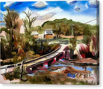 Low Water Bridge IIi Canvas Print by Kip DeVore