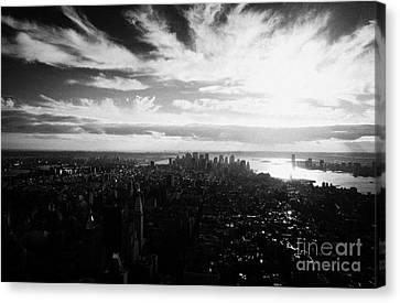 Lower Manhattan New York City Usa Canvas Print by Joe Fox