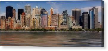 Lower Manhattan Canvas Print by Susan Candelario