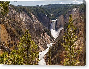 Lower Yellowstone Canyon Falls 5 - Yellowstone National Park Wyoming Canvas Print by Brian Harig