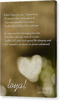 Loyal Canvas Print by MaryJane Armstrong
