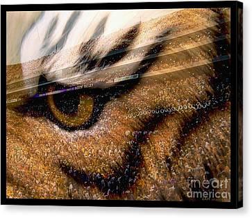 Lsu - Eye Of The Tiger Canvas Print by Elizabeth McTaggart