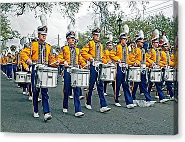Lsu Marching Band Canvas Print by Steve Harrington