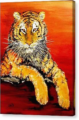 Lsu Tiger Canvas Print by Stephen Broussard
