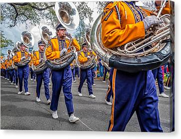 Lsu Tigers Band Canvas Print by Steve Harrington