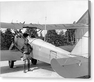 Lt. Doolittle's Anti Fog Plane Canvas Print by Underwood Archives