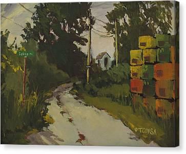 Lubee Lane Canvas Print by Bill Tomsa