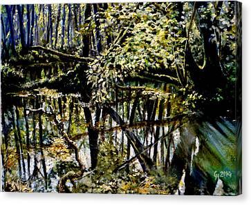 Lubianka-4 Mystery Of Swamp Forest Canvas Print by Henryk Gorecki