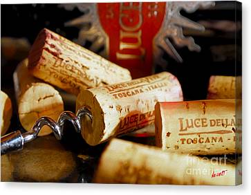 Lucente Corks Canvas Print by Jon Neidert