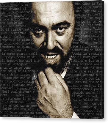 Luciano Pavarotti Canvas Print by Tony Rubino