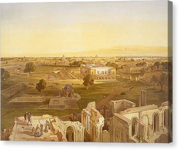 Lucknow, From India Ancient And Modern Canvas Print by William 'Crimea' Simpson