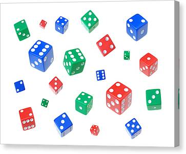 Lucky Dice Canvas Print by Jim Hughes