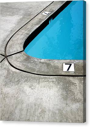 Lucky Sevens Palm Springs Canvas Print by William Dey