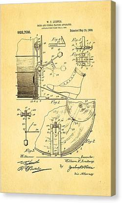 Ludwig Drum And Cymbal Apparatus Patent Art 1909 Canvas Print by Ian Monk