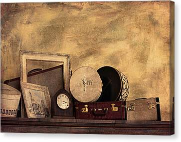 Luggage And Memories Canvas Print by Maria Angelica Maira