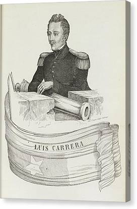 Luis Carrera Canvas Print by British Library