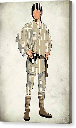 Luke Skywalker - Mark Hamill  Canvas Print by Ayse Deniz