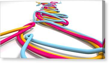 Luminous Cables Closeup Canvas Print by Allan Swart