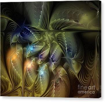 Luminous Star Canvas Print by Karin Kuhlmann