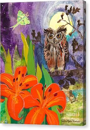 Lunar Enchantment Canvas Print by Robin Maria  Pedrero