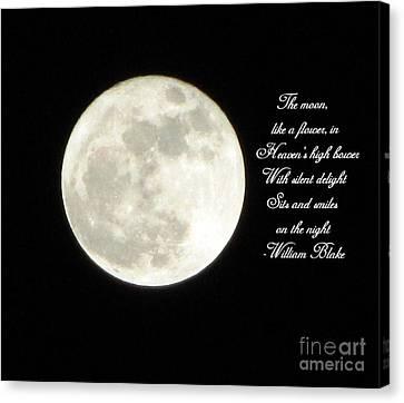 Lunar Verse Canvas Print by Avis  Noelle