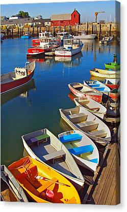 Lunch At The Harbor Canvas Print by Joann Vitali