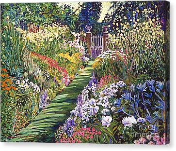 Lush Floral Pathway Canvas Print by David Lloyd Glover