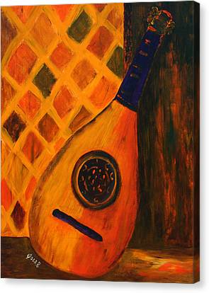 Lute By The Window  Canvas Print by Oscar Penalber