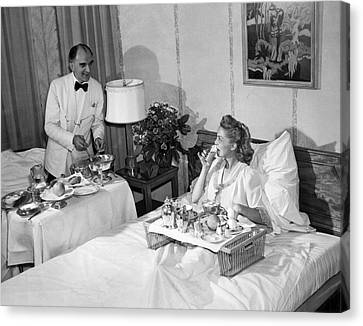 Luxurious Room Service Canvas Print by Underwood Archives