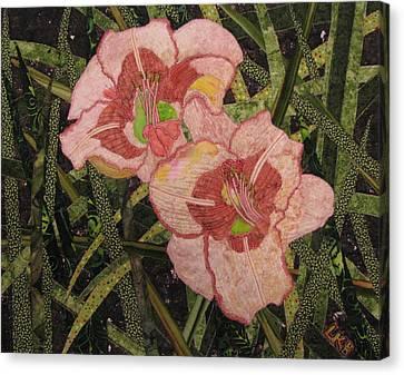 Lynda's Daylilies Canvas Print by Lynda K Boardman